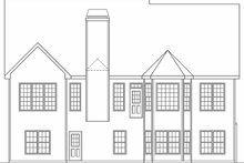 Home Plan - Country Exterior - Rear Elevation Plan #927-127