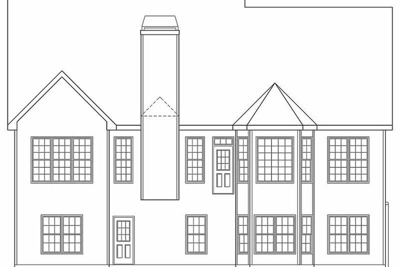 Country Exterior - Rear Elevation Plan #927-127 - Houseplans.com