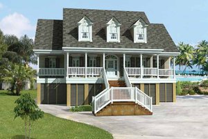Architectural House Design - Country Exterior - Front Elevation Plan #37-249
