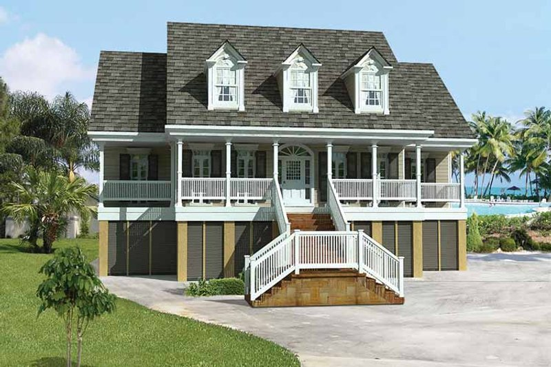 Dream House Plan - Country Exterior - Front Elevation Plan #37-249