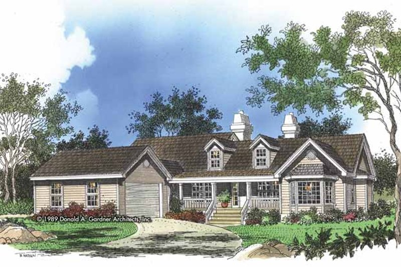 Home Plan - Country Exterior - Front Elevation Plan #929-163