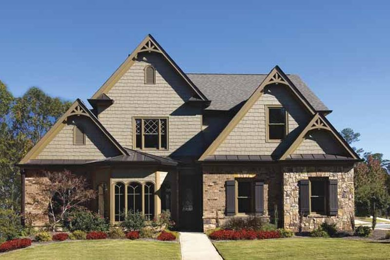 Traditional Exterior - Front Elevation Plan #54-298 - Houseplans.com
