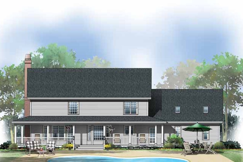 Country Exterior - Rear Elevation Plan #929-410 - Houseplans.com