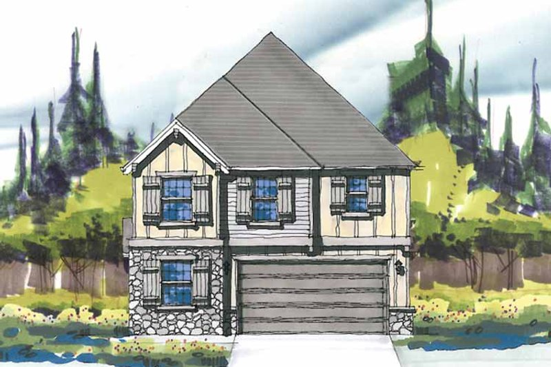 Craftsman Exterior - Front Elevation Plan #509-272 - Houseplans.com