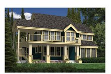 House Plan Design - Country Exterior - Front Elevation Plan #118-152
