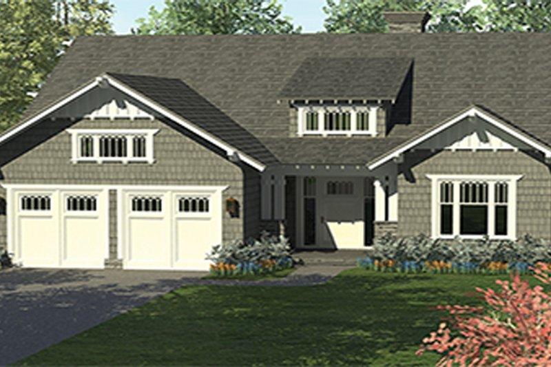 Craftsman Exterior - Front Elevation Plan #453-614 - Houseplans.com