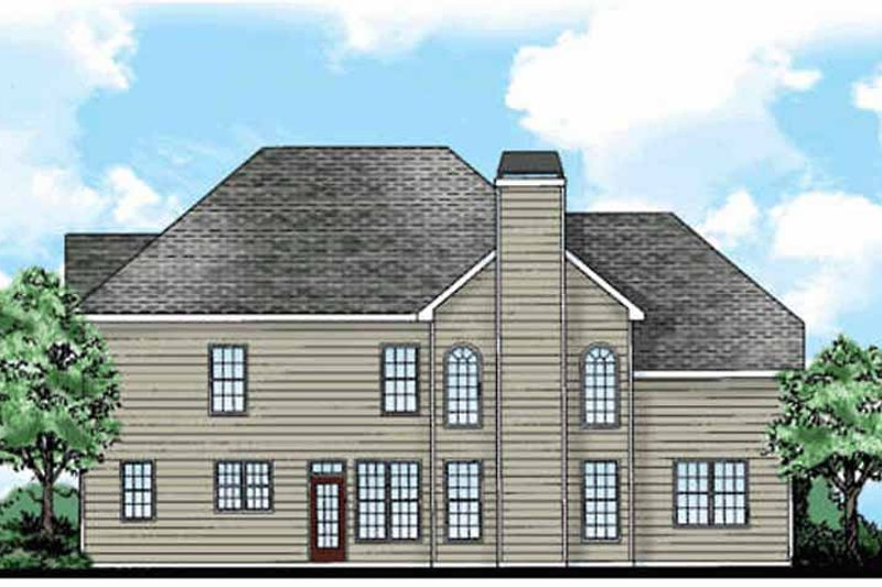 Classical Exterior - Rear Elevation Plan #927-880 - Houseplans.com