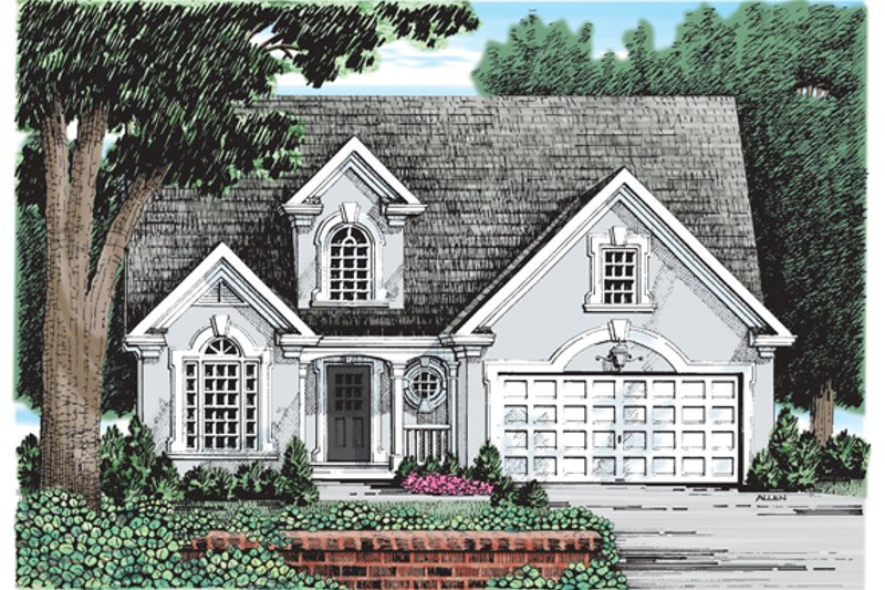 Mediterranean Exterior - Front Elevation Plan #927-247