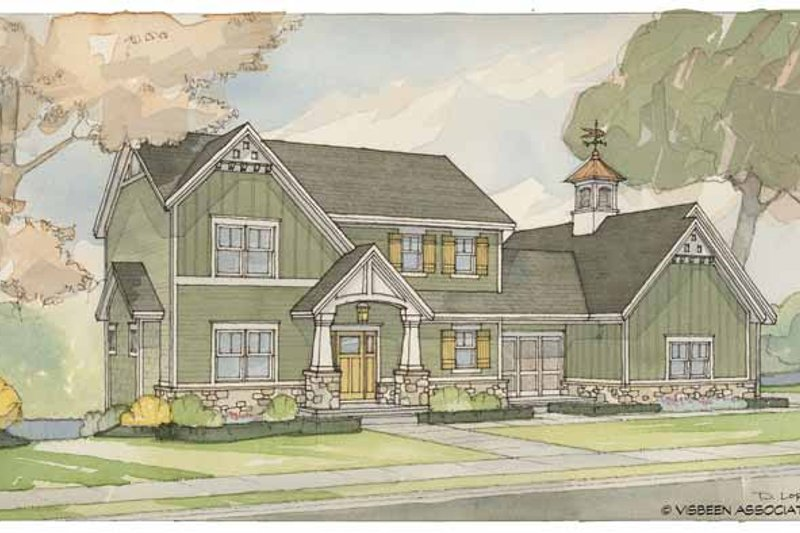 Craftsman Exterior - Front Elevation Plan #928-58
