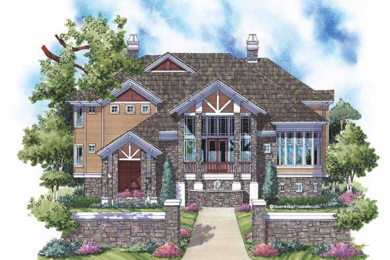 Country Exterior - Front Elevation Plan #930-136