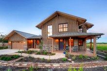 Architectural House Design - Prairie Exterior - Front Elevation Plan #1042-18