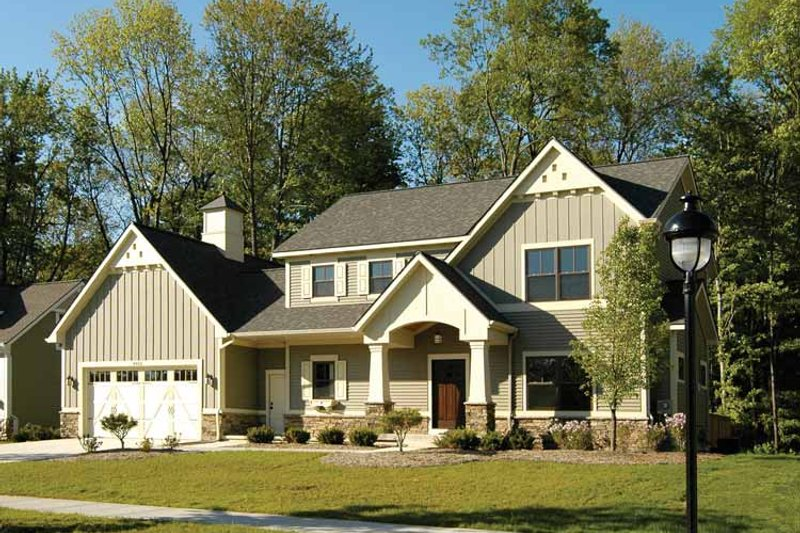 Architectural House Design - Country Exterior - Front Elevation Plan #928-96