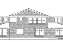 Country Exterior - Rear Elevation Plan #132-497