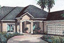 House Design - Mediterranean Exterior - Front Elevation Plan #17-3188