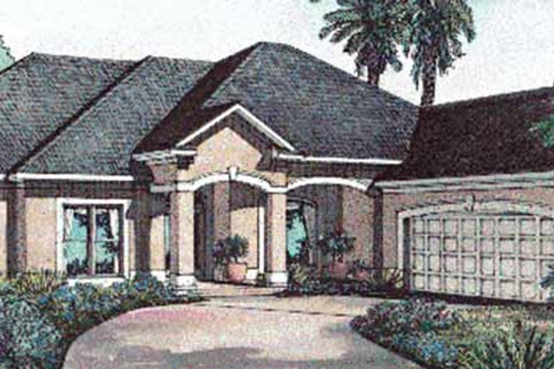 Mediterranean Exterior - Front Elevation Plan #17-3188