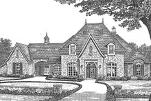 Architectural House Design - European Exterior - Front Elevation Plan #310-1256