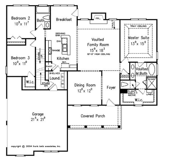 Country Floor Plan - Main Floor Plan Plan #927-305