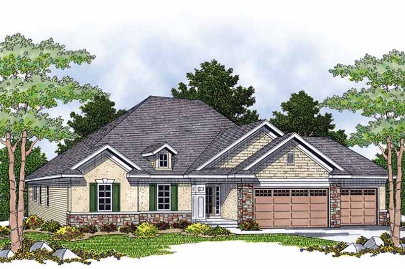 Dream House Plan - European Exterior - Front Elevation Plan #70-1374