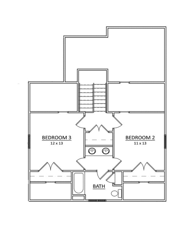 Craftsman Floor Plan - Upper Floor Plan Plan #936-9