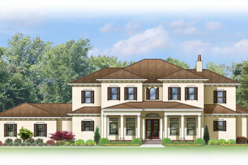 Mediterranean Exterior - Front Elevation Plan #1058-86 - Houseplans.com