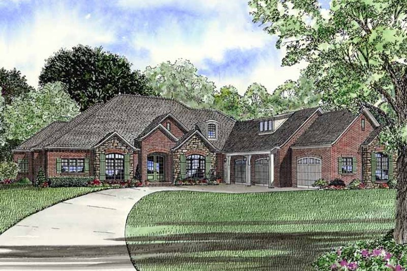 Traditional Exterior - Front Elevation Plan #17-2757 - Houseplans.com