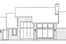 House Plan Design - Contemporary Exterior - Rear Elevation Plan #72-763