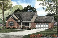 Architectural House Design - Traditional Exterior - Front Elevation Plan #17-2888