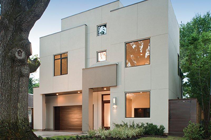 Contemporary Exterior - Front Elevation Plan #1021-12 - Houseplans.com
