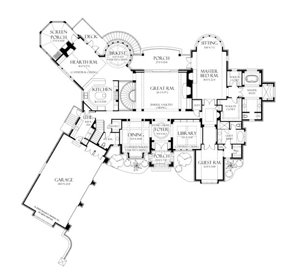 House Plan Design - European Floor Plan - Main Floor Plan #929-895