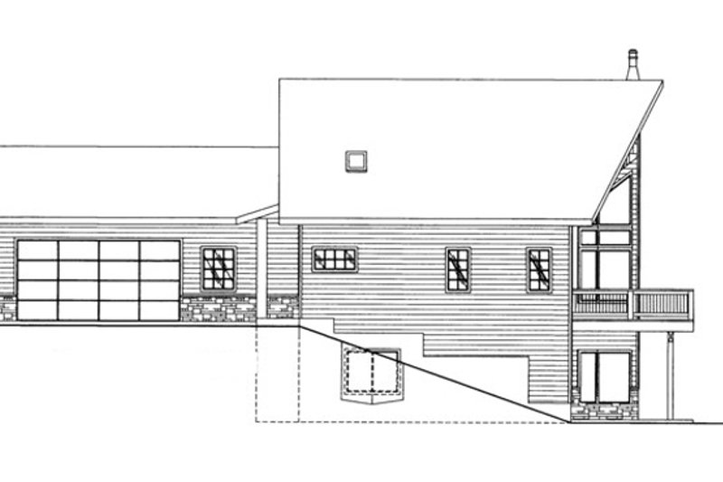 Ranch Exterior - Other Elevation Plan #117-833 - Houseplans.com
