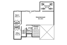Colonial Floor Plan - Lower Floor Plan Plan #119-415