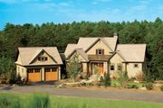 European Style House Plan - 4 Beds 4 Baths 2263 Sq/Ft Plan #929-891 Exterior - Front Elevation