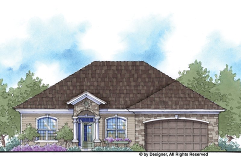 Country Exterior - Front Elevation Plan #938-72