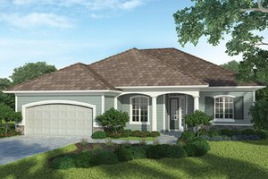 Country Exterior - Front Elevation Plan #938-32