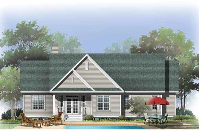 Traditional Exterior - Rear Elevation Plan #929-880 - Houseplans.com
