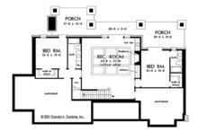 European Floor Plan - Lower Floor Plan Plan #929-975