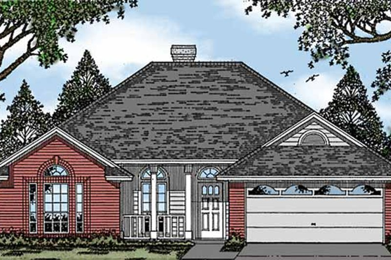 Architectural House Design - Ranch Exterior - Front Elevation Plan #42-449