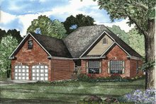 House Design - Traditional Exterior - Front Elevation Plan #17-2876