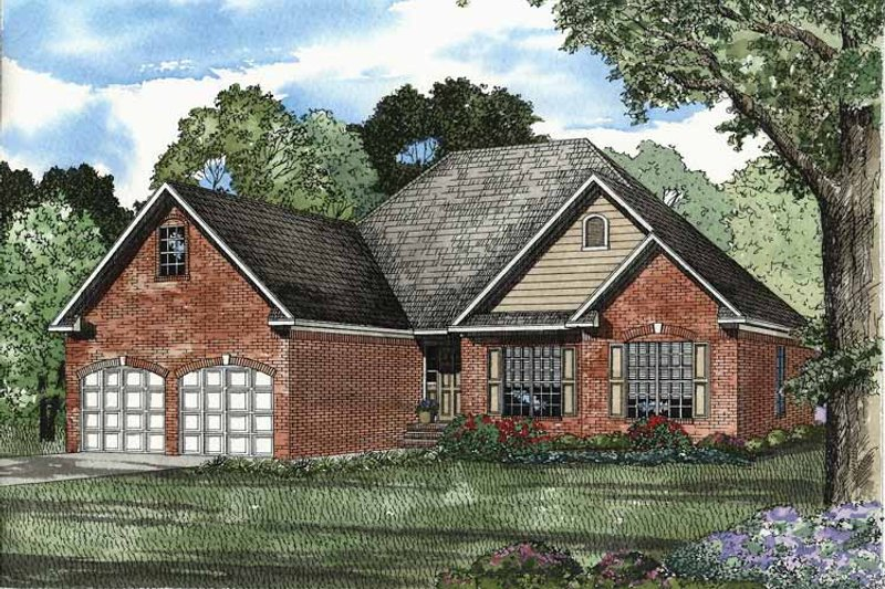 Traditional Exterior - Front Elevation Plan #17-2876 - Houseplans.com