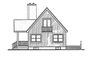 Cabin Style House Plan - 3 Beds 3 Baths 1676 Sq/Ft Plan #314-285 Exterior - Rear Elevation