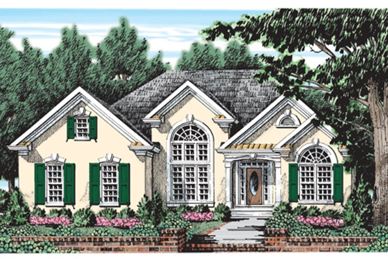 Mediterranean Exterior - Front Elevation Plan #927-52 - Houseplans.com