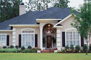 Dream House Plan - Mediterranean Exterior - Front Elevation Plan #37-245