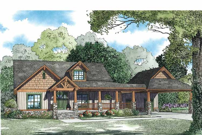 Country Exterior - Front Elevation Plan #17-3349 - Houseplans.com