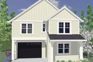 Architectural House Design - Traditional Exterior - Front Elevation Plan #509-176