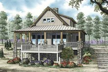 Cabin Exterior - Front Elevation Plan #17-3303