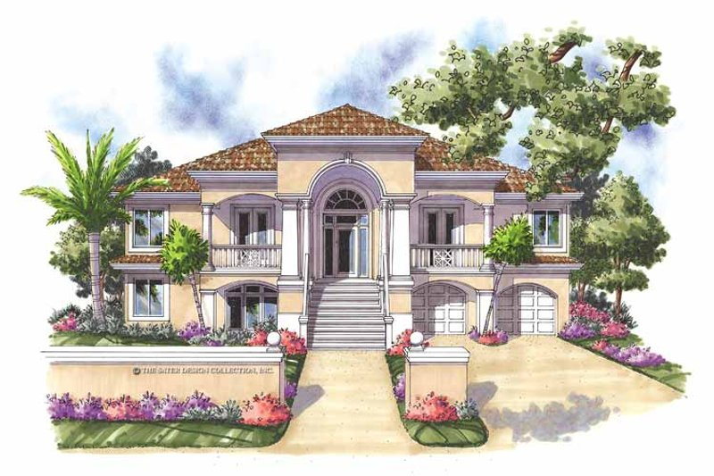 Mediterranean Exterior - Front Elevation Plan #930-161