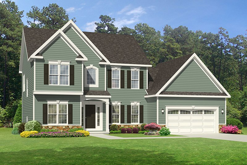 Traditional Exterior - Front Elevation Plan #1010-119 - Houseplans.com