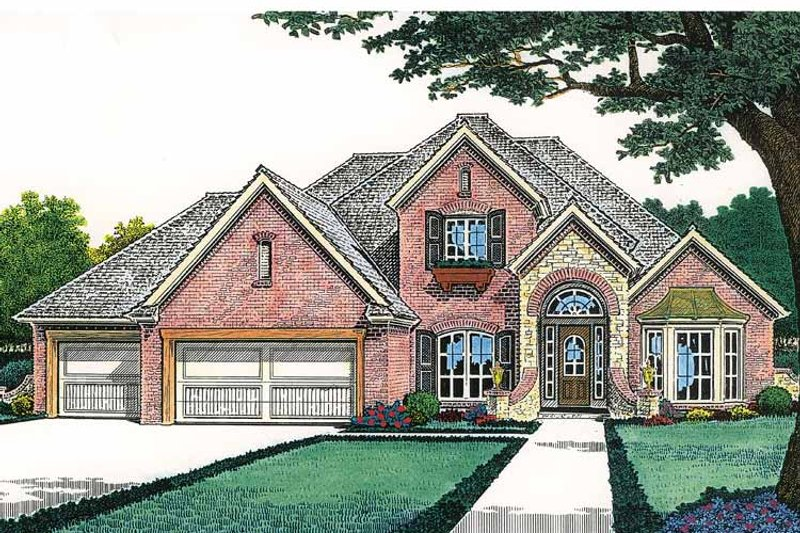 Country Exterior - Front Elevation Plan #310-1196 - Houseplans.com