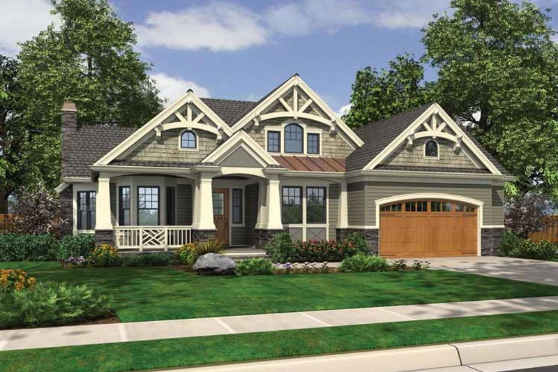 Craftsman Exterior - Front Elevation Plan #132-546 - Houseplans.com