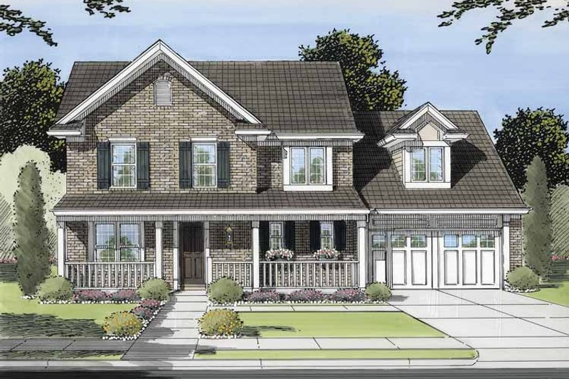 Victorian Exterior - Front Elevation Plan #46-552
